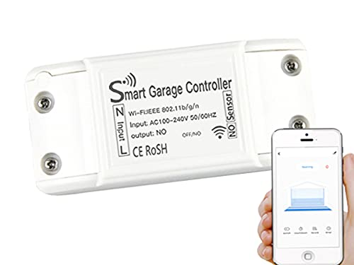 Kit Smart WiFi Garage Opener, Apri Saracinesca Serrande Porta Portone Garage Apricancello, APP Tuya Smart Life, Compatibile Con Alexa e Google Home