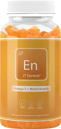 Omega 3 + MultiVitamin Gummies   Natural Orange Chewable Gummy Supplement for Adults & Children   One Months Supply - 30 Gummies   Gluten & Palm Oil Free Gummies   Made in The UK