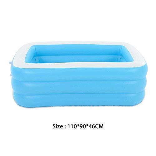 nobrand JYWJDH 110/130 / 150cm Platz Kinder-Schwimmbad Tragbares Kinder Dry Pool Kinder aufblasbare Behälter im Freien Spielzeug PVC-Karikatur-Becken (Color : 110x90x46CM)