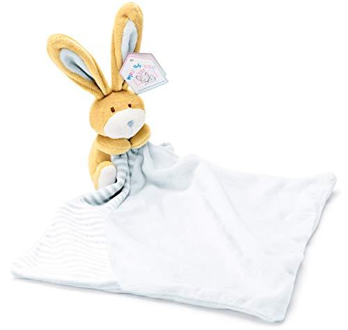 Peluche doudou couverture petit lapin bleu pour un nouveau né bébé garçon