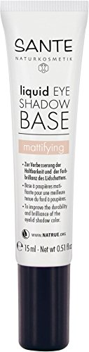 SANTE Naturkosmetik Liquid Eyeshadow Base, Lidschatten Grundierung, Transparent, Vegan, Bio-Extrakte, 15ml