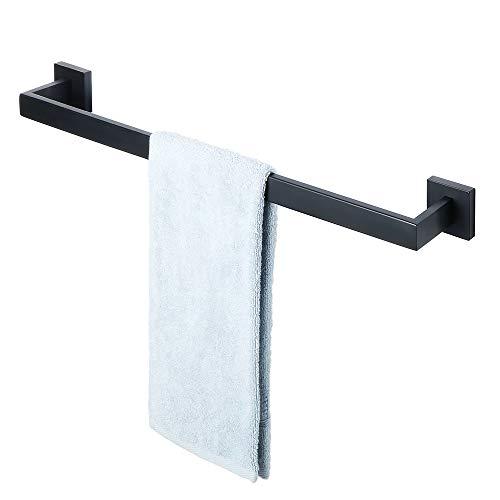 Sayayo Single Handtuch Bar Handtuch Rod 61 cm Wand montiert, Edelstahl matt schwarz, EGA7201B