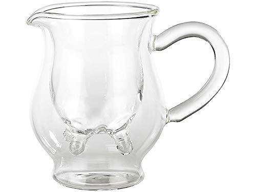 Monsterzeug Doppelwandiges Milchkännchen mit Euter, Milchkanne aus Glas im lustigen Kuhdesign, Doppelwand Kuh Euter, Glas-Michkännchen