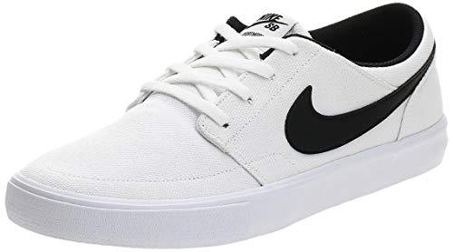 Nike SB Solarsoft Portmore II, Zapatillas de Skateboarding Unisex Adulto, Blanco (White/Black/White 100), 41 EU