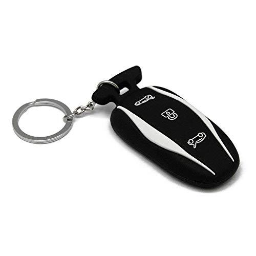 SODIAL Schwarz Silikon Schlüssel Tasche Fernbedienung Schlüssel Set für Tesla Model S 60 75 85 100D