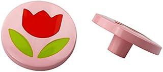 Möbelknapp nyckelknapp utdragsknapp barnkammare av nylon – diverse motiv (blomma i cirkeln)