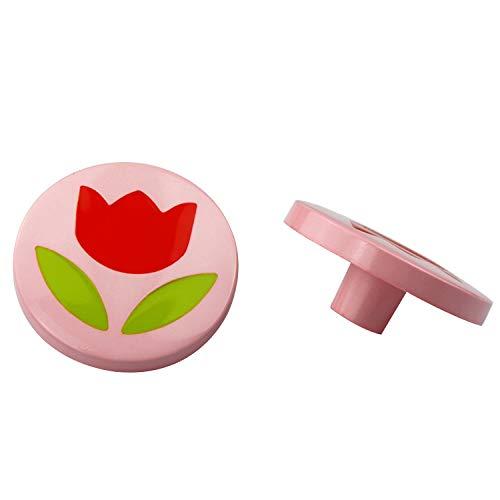 Möbelknopf Schranknopf Schubladenknopf Kinderzimmer aus Nylon - diverse Motive (Blume im Kreis)