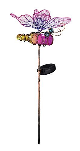 Regal Art & Gift Mini Solar Butterfly Stake, Pink