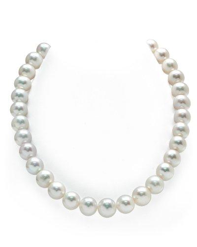 Collana di perle d'acqua dolce coltivate bianche, 12-13 mm, lunghezza girocollo 45,6 cm