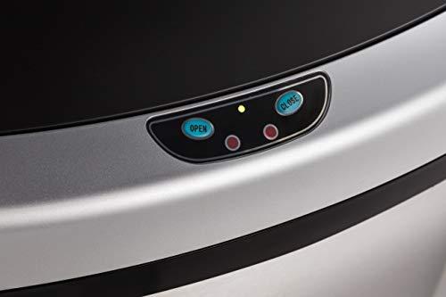 LIFA LIVING 2x 48L Automatischer Sensor Mülleimer, Küchenabfälle, 2er Pack Abfalleimer mit Hand Bewegungssensor, Mülleimer Metall, Edelstahl, Silber (50l)