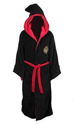 Harry Potter Hogwarts Adult Fleece Hooded Bathrobe (One Size) by Robe Factory