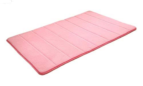 ZhuiKunA Dick Schmutzfangmatte Badezimmermatte Türmatte,Weich Bodenmatte Teppich Fußmatte Pink (40x60 cm)