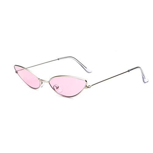 XCSM Gafas de Sol de Ojo de Gato Vintage para Mujer, Gafas de Sol de Montura pequeña de Moda Retro para Mujer, Gafas de protección UV400, Moda