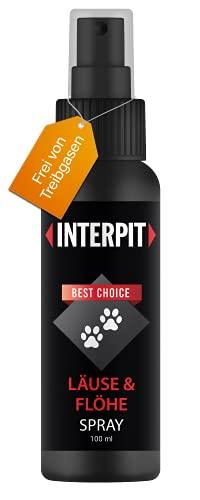 Interpit LÄUSE & FLÖHE Spray, Hochwirksam & gut duftendes Naturprodukt für Haustiere - Milben + Flohmittel für Katze & Hund | 100ml