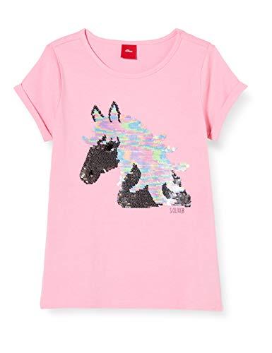 s.Oliver Junior Mädchen 403.11.899.12.130.1278049 T-Shirt, pink, 128/134/REG