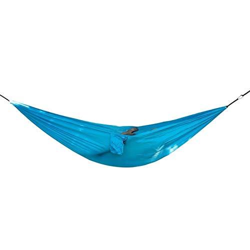 CQQO 210T Nylon Relaxing Doppel Reise Hängematte for Camping Wandern Außen (Color : Dark Blue Sky Blue)