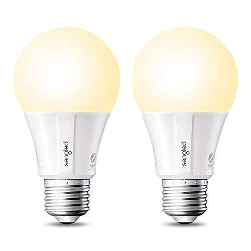 Sengled Zigbee Smart Light Bulbs, Smart Hub Required, Works with SmartThings and Echo with Built-in Hub, Voice Control with Alexa and Google Home, Soft White 60W Eqv. A19 Alexa Light Bulb, 2 Pack