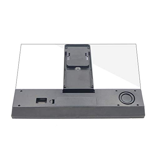YISUNF Lupa, 12 Pulgadas de Pantalla del teléfono móvil 3D Lupa Plegable Curvo ampliada de película HD de amplificación del proyector del Soporte del Altavoz con (Color : Black)