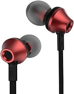 سماعة الاذن الداخلية مع مايكروفون من ريماكس موديل RM 610D احمر واسود