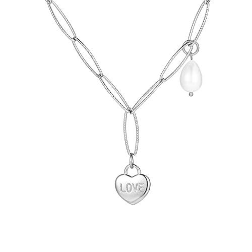 Collar,Collar de mujer Colgante Temperamento Cadena de clavícula Cadena de suéter Regalo de cumpleaños (40 CM + 5 cm)