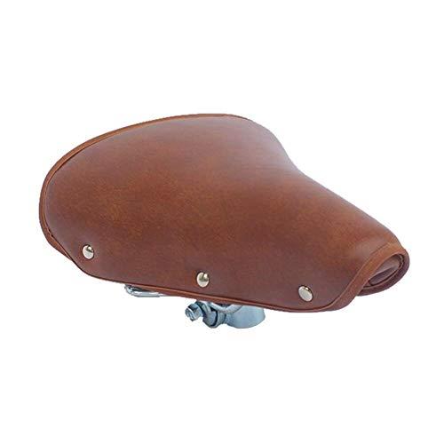 ZHANGYY Fahrradsitz, bequemster Fahrradsitz Memory Foam Wasserdichter Fahrradsattel Feder Fahrradsattel Vintage Brown Pu Leder Professional