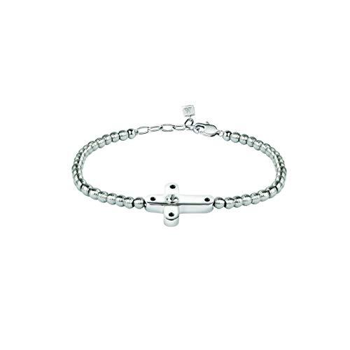 Morellato Bracciale da uomo, Collezione Mister, in acciaio, diamanti naturali selezionati h/i - SANF08