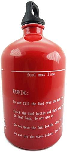 Leere Flasche aus Aluminium, für Benzin, Diesel, Kerosin, Alkohol, Flüssigkeit, Gas, Öl, Kraftstoff, leere Flasche für Reisen, Camping, Wandern, Picknick, Kochen, Motorrad, Notfall-Benzinkanister