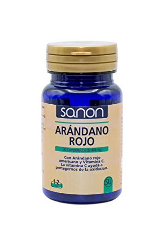 SANON - SANON Arándano Rojo Americano y Vitamina C 30 comprimidos de 400 mg
