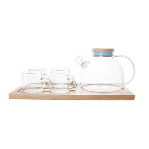 HCFSUK Porcelain Tea Set Afternoon Tea Sets with Glass Coffee Cup Set Household Teapot Water Cup Cup Flower Tea Cup,Lid Cup