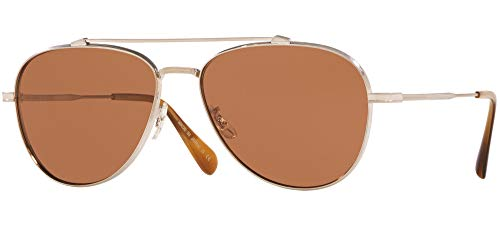 Oliver Peoples Gafas de Sol RIKSON OV 1266ST Brushed Silver/Persimmon 56/15/145 hombre