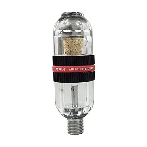IPOTCH El filtro del compresor de aire del separador de aceite de agua para la instalación del rociador de pintura de pistola pulverizadora de 1/4 pulgadas - Negro