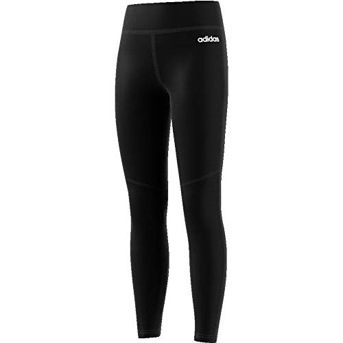 adidas Yg C Long Tight Mallas, Unisex niños, Negro/Negro/Blanco, 128
