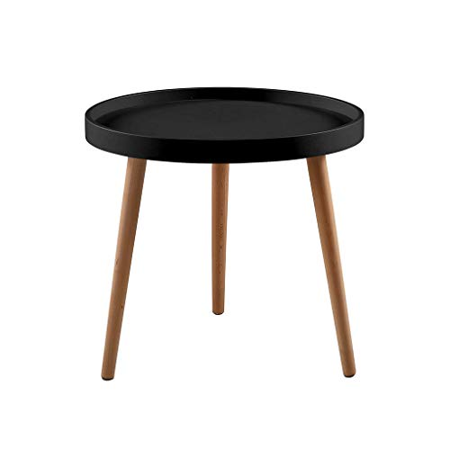 ZOYO Side Table for Living Room Small Coffee Table Side Table Modern for Eames Style Living Room Sofa Side Table (Black)