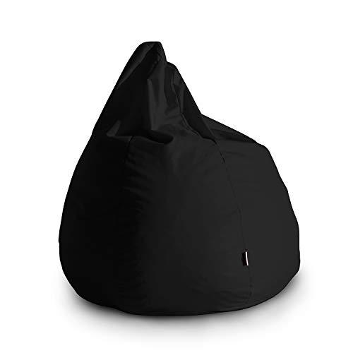 Avalon Pouf Poltrona Sacco Grande Bag L Jive 80x80x100cm Made in Italy in Tessuto antistrappo Imbottito Colore Nero