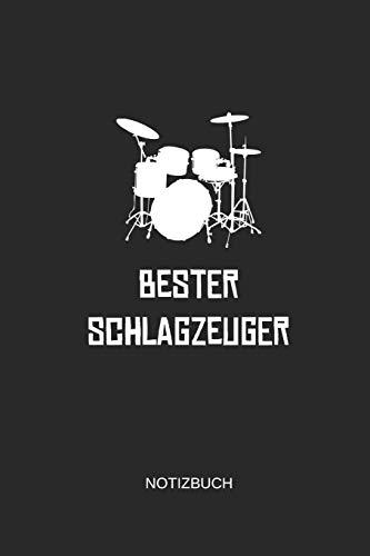 Bester Schlagzeuger Notizbuch: Liniertes Notizbuch - Schlagzeug Drummer Musiker Geschenk