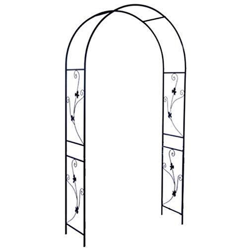 Arco Jardin, Cenadores de Jardín Decorativos de Metal Negro Grande para Exteriores, Arco para Plantas Trepadoras, Enrejado de Arco para Plantas Trepadoras (Negro)