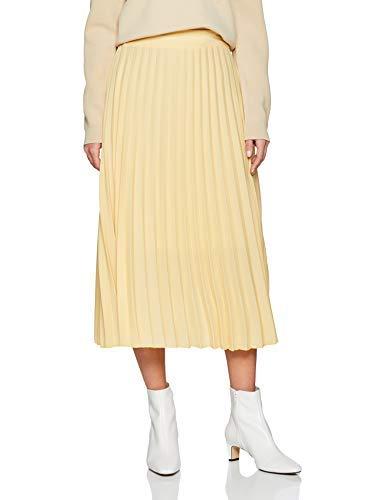 Falda larga amarilla para mujer (amarillo apagado)