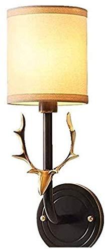 PQQ Lámpara de Pared Lámpara de iluminación Creativa Minimalista Minimalista Creativa Lámpara de Dormitorio de Madera nórdica Noche Deer Deer HEA