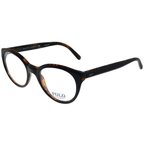Polo Ralph Lauren 0PH2174, Monturas de Gafas para Mujer, Negro (Top Black On Havana Jerry), 51