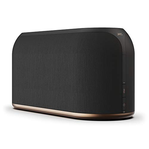 JAYS Enceinte Multiroom Bluetooth Système - s-Living Three Noir Haut-Parleur WiFi Speaker pour la Musique, TV et Stream