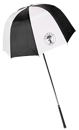 DrizzleStik Flex - Golf Club Umbrella (Black/White)