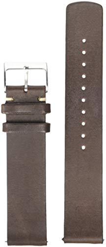 Skagen Men's 20mm Leather Casual Watch Strap, Color: Dark Brown (Model: SKB6025)