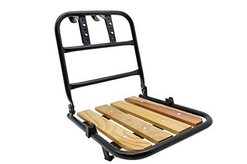 P4B | Vorderrad Gepäckträger mit ca. 30 x 30 cm Ladefläche | Mit hochwertigem Kiefernholz | Frontgepäckträger für 26-28 Zoll Fahrräder | Lenkerhalter verstellbar | Max. Zuladung = 15 Kg