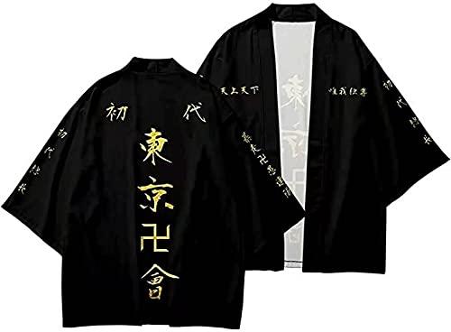 AudMsier 2021 Nuevo Anime Cosplay Cardigan Kimono Impresión Digital 3D Chaqueta para Hombre Ropa Superior De Halloween Uniforme De Dibujos Animados Pperiférico Camisa Unisex (L)