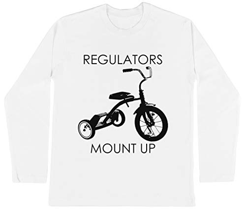 Regulators Mount Up Unisex Kinder Jongens Meisjes Lange Mouwen T-shirt Wit Unisex Kids Boys Girls's Long Sleeves T-Shirt White