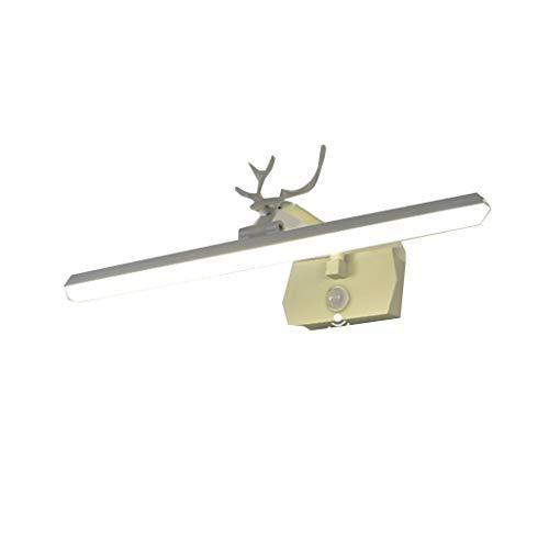 LRBBH Lámparas para el Espejo del Cuarto de baño LED Lámpara De Espejo Luz Delantera del Espejo del Sensor del Cuerpo Humano Baño Sin Perforación con Interruptor Enchufable (Size : 73CM)