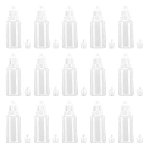 EXCEART 25Pcs 20Ml Leere Quetschbare Augenflüssigkeitstropfenflaschen mit Kindersicherer Kappe Pe Kunststoff für Lösungsmittel Essenz Augentropfen Kochsalzlösung