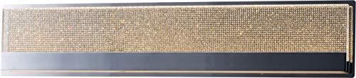 "ET2 E24604-122PC Sparkler ADA Compliant Crystal Rectangular LED Bath Vanity Wall Mount, 2-Light 62 Watts, 6""H x 3""W x 28""L, Polished Chrome"