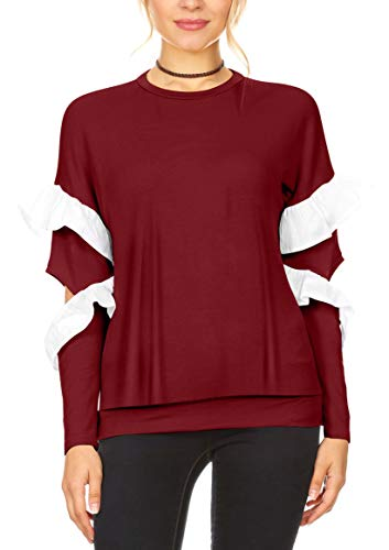 Men Red High Sierra Red and Gray Sweaters
