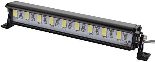 YNSHOU Accesorios de Juguete Lámpara de Techo de Metal RC Barra de Luces LED para Coche RC 1/10 RC Crawler AXIAL Wraith RC4WD CC01 Pieza de camión de Coche